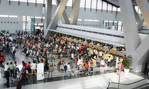 Cebu Pacific checkin area at NAIA3 care ninoy-aquino-international-airport
