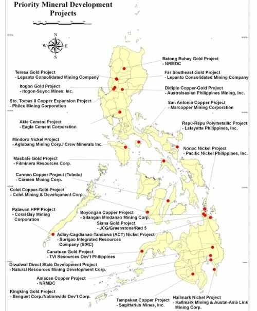 Philippines mining sites care detailed-map-of-the-philippines