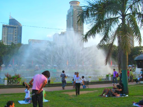Dancing Fountain At Day