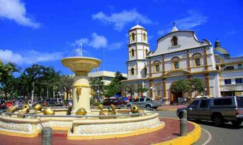 Immaculate Conception Cathedral and Roxas City fountain