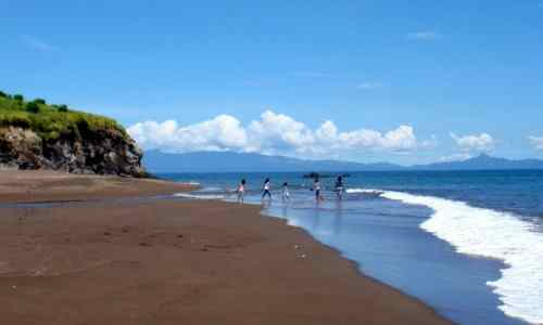 Black sand beaches care mayon-volcano
