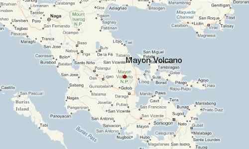 Map Mayon Volcano care mayon-volcano