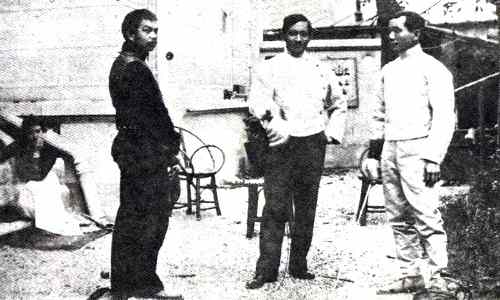 Rizal and Luna in practice fencing care jose-rizal