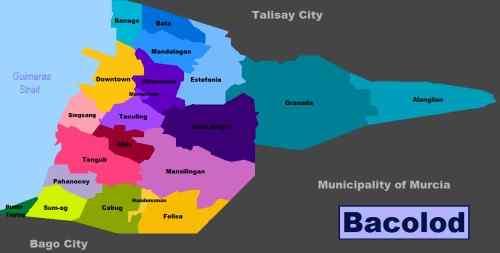 Bacolod City District Map care bacolod-city