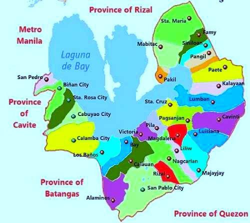 Laguna Philippines map of Laguna