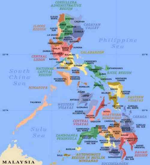 Political map of Philippines care detailed-map-of-the-philippines