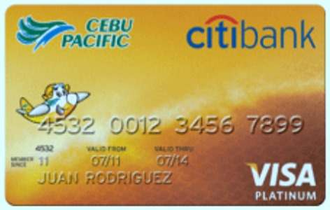 Cebu Pacific Citibank credit card