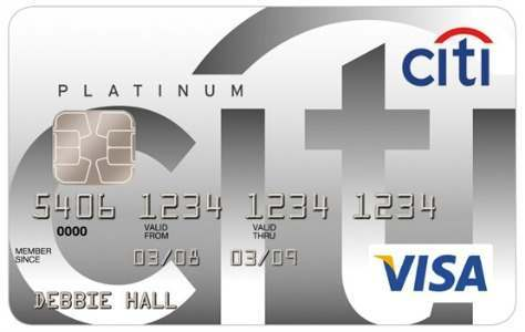 Citibank Platinum Visa credit card