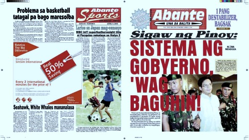 Philippine news paper headlines