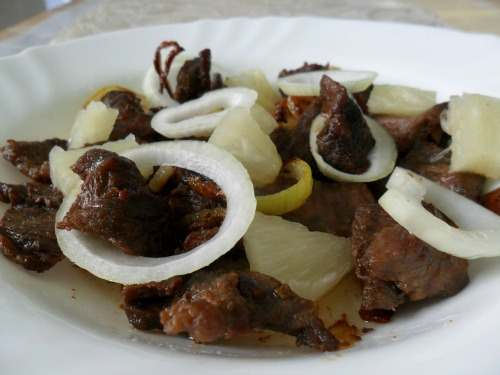 A nice Philippine cuisine called Beef Steak Tagalog