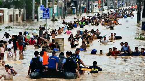 Flood in Manila care philippines weather
