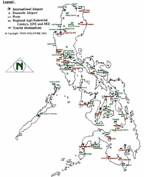 Philippines airports map care detailed-map-of-the-philippines