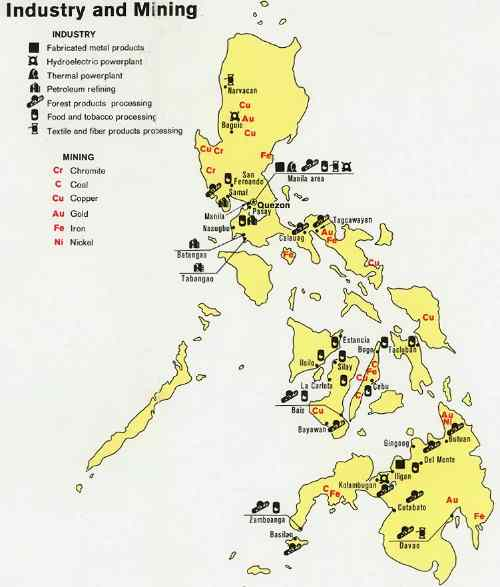 Philippines industry and mining map care detailed-map-of-the-philippines